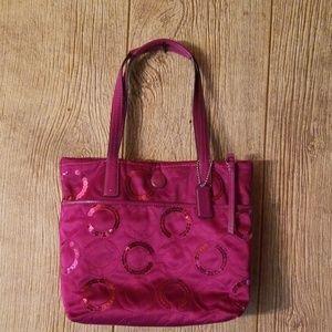 Coach sequin signature purse